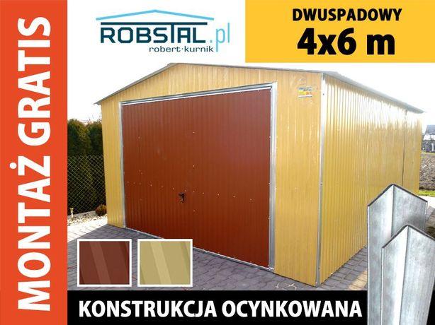 Garaż blaszany 4x6 od producenta GRATIS MONTAŻ, WYSOKA JAKOŚĆ!