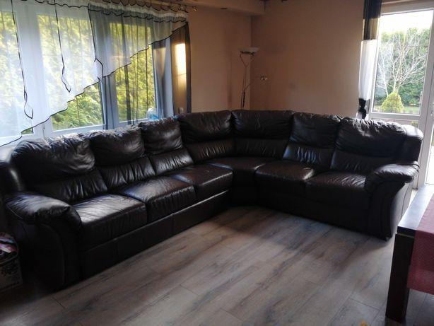 Skórzana sofa rozkładana