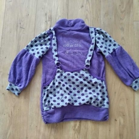 sweter fioletowy dla dziewczynki