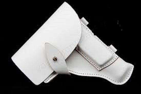 Тактическая кобура для пистолета ПМ белого цвета для сотрудников ДПС.