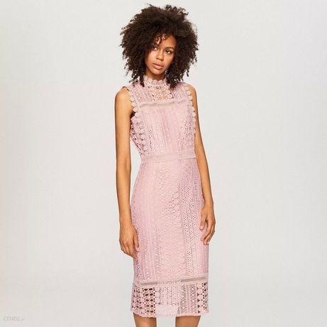 ażurowa sukienka Reserved 34 / ołówkowa