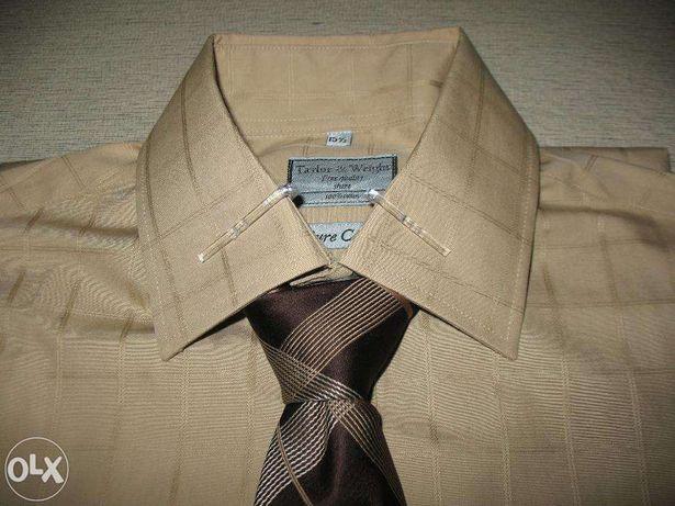 Новая мужская брендовая рубашка с галстуками Taylor&Wright T&W