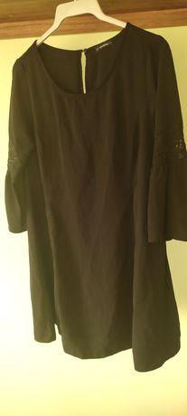 Czarna sukienka / tunika Medicine L trapezowa rozkloszowana