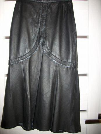 Spódnica skóra naturalna czarna r.38