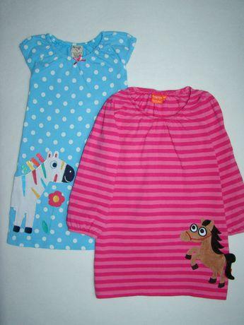 x2 bajeczne sukienki wiosna lato Koniki 3-4l/104cm