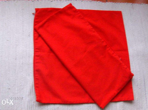 2 abas de almofada vermelhas com fecho