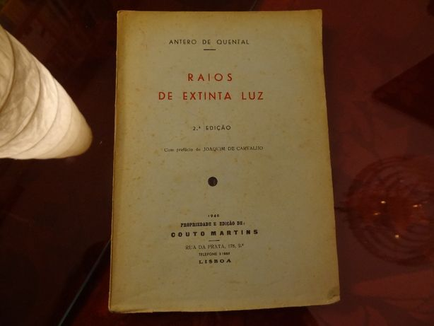 QUENTAL, Antero de – 'Raios de Extinta Luz' | 1946