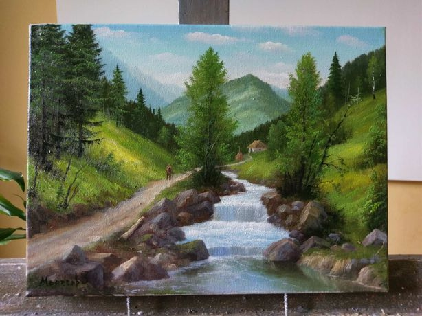 Картина «Карпаты»,масло,холст 30-40см.,исполняю работы на заказ