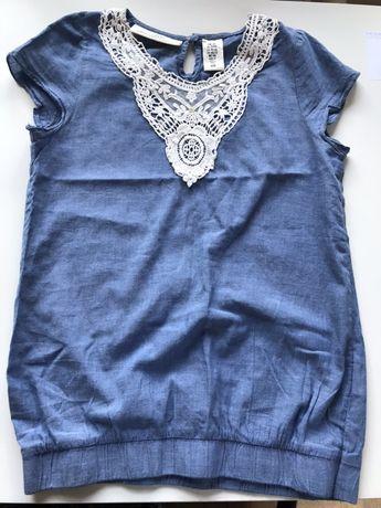 H&M nowa bluzeczka z krótkim rękawkiem 146