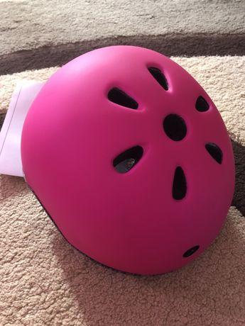 Шлем доя девочки розовый powerslide велосипед, ролики, коньки, самокат
