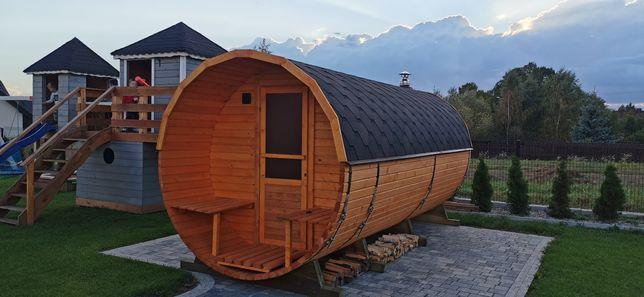 Sauna ogrodowa beczka 5 m agroturystyka