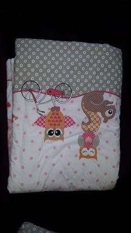 Pościele dziecięce do łóżeczka dla dziewczynki + kołdra i poduszka