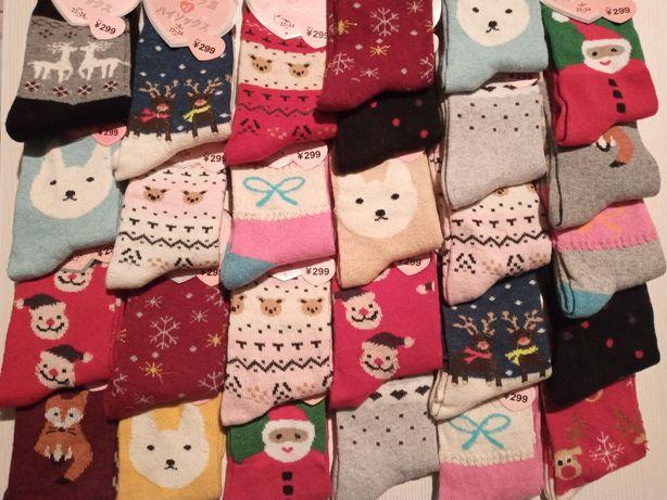 Носки теплі зимові,жіночі,різдвяні
