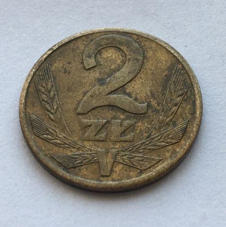 Монета 2 zloty\злотих Rzeczpospolita Ludowa Poland\Польща р.1988