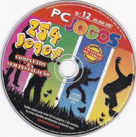 CD com 254 jogos para computador PC Jogos