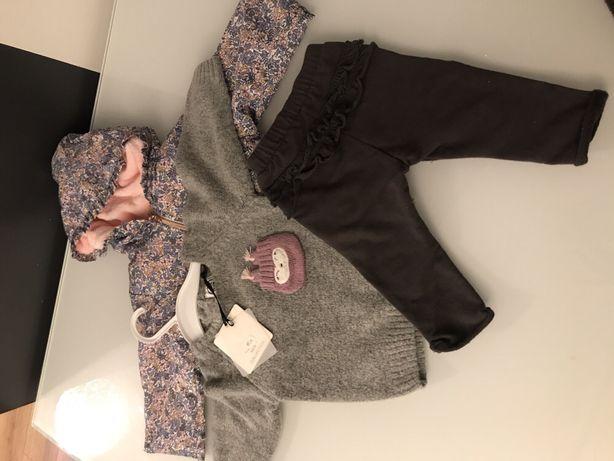 Kurtka sweter spodnie