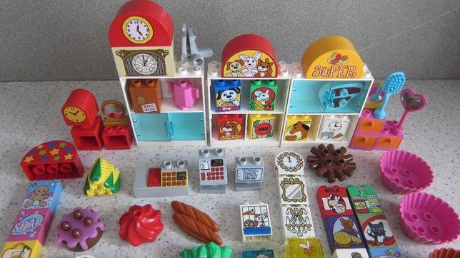 Lego Duplo SKLEP artykuły do sklepu kasa warzywa owoce regał
