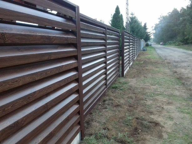 Brama wjazdowa ogrodzenie nowoczesne metalowe, przęsło płot