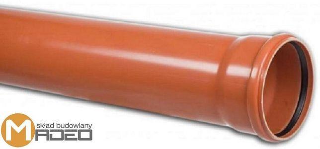 Rura kanalizacyjna pomarańczowa 110/6m 3,2mm 12,50zł/mb