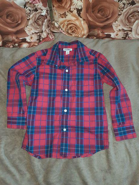 Рубашка новая клетка мальчик 5-6лет США