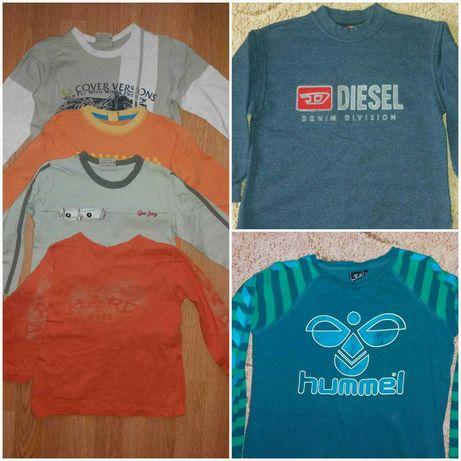Кофта Hummel и регланы футболки длинный рукав на мальчика 4-6 лет