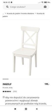 Białe krzesło z ikea
