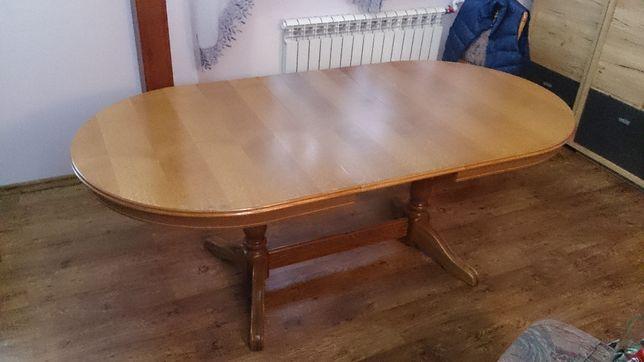 Stół i krzesła - komplet. 6 Krzeseł. Stół rozkładany. Ława. Krzesło