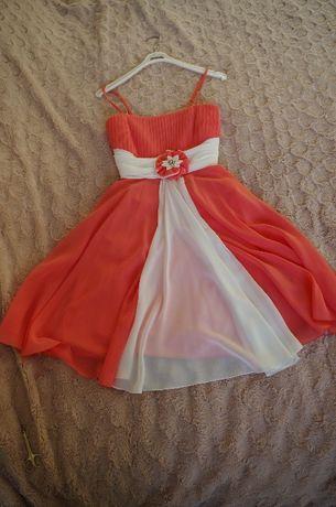 Sukienka na wesele 40 malinowa śliczna