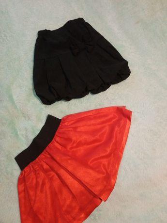 Spódniczka rozmiar 122 czarna czerwona