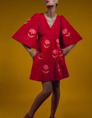 Льняное платье Zhupanconcept