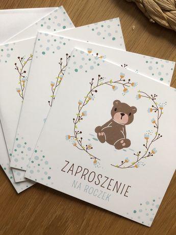 Zaproszenia + koperty Roczek