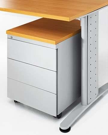 Bloco rodado 3 gavetas para secretária de escritório material Novo