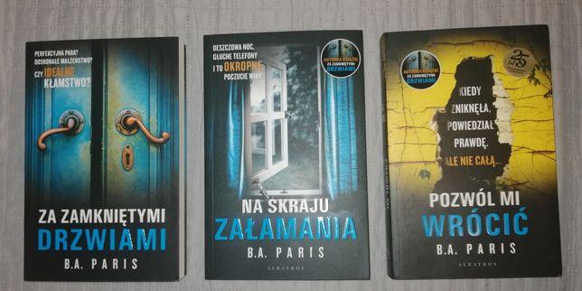 B. A. Paris bestsellery kryminał 3 książki