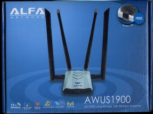 Оригинал! USB 3.0 Wi-Fi адаптер Alfa AWUS1900 2.4-5ГГц