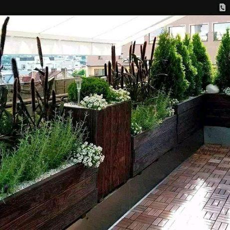 Деревяні ящики для рослин