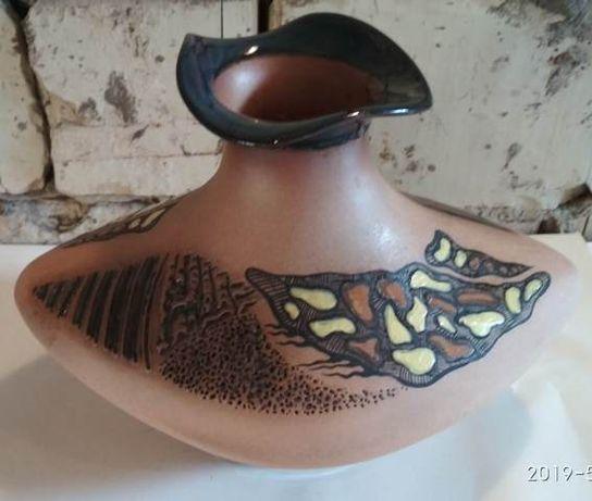 Ваза, керамика, времен СССР, с клеймом ЯВ