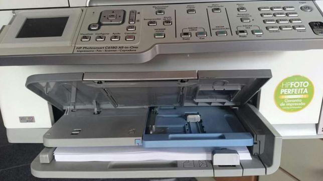 Impressora HP ,jato de tinta, tudo em um com fax scanner e copiadora