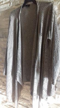 Sweter ażur kardigan narzutka beżowy XL/48/50