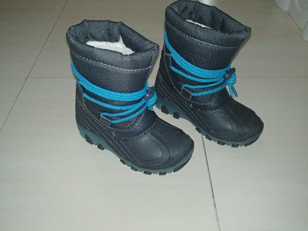 Gumowe buciki Lupilu na zimę / ocieplane rozmiar 26 - podeszwa ŚWIECI