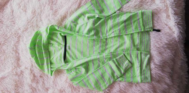 bluza 122 cienka w paski rozpinana