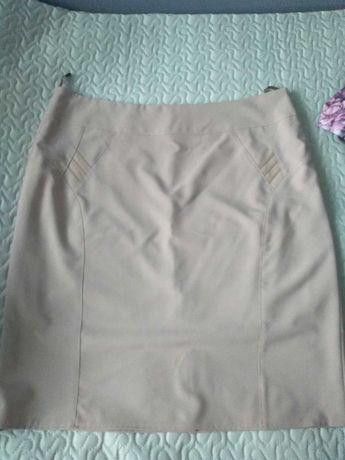 Spódnica rozmiar 48-50 (4-5XL) kolor ecru/bardzo jasny brąz
