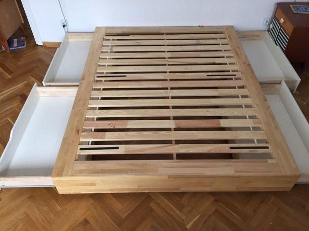 nowe IKEA MANDAL łóżko 140x200 rama stelaż szuflady / dowóz pod dom