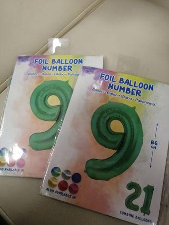 Balon zielony 9 nowy