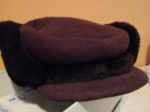 zimowa czapka z owczej skóry męska
