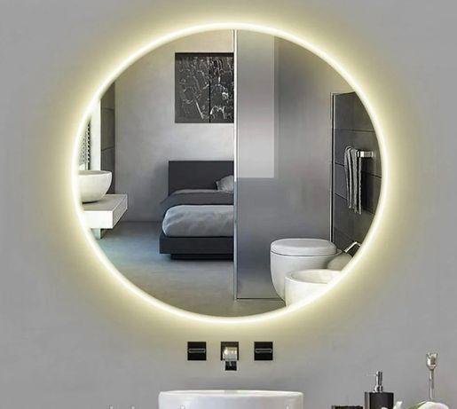 Акция! Зеркало Круглое с LED подсветкой в Ванную 600 мм - 999* грн!