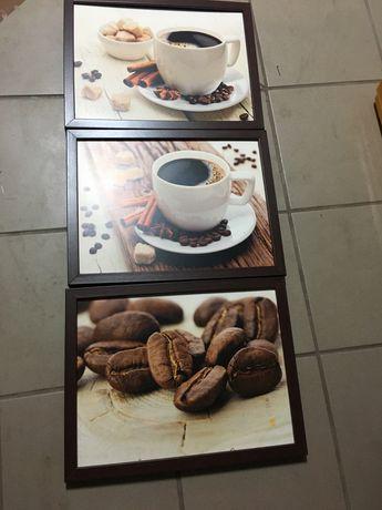 Obrazki w ramce moty kawy