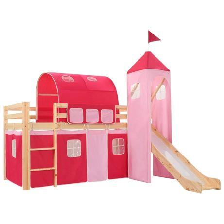 Estrutura de cama criança c/ escorrega e tenda NOVA **envio grátis**