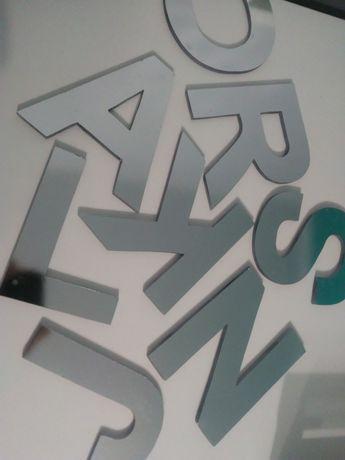 Litery z plexi napis salon fryzjerski