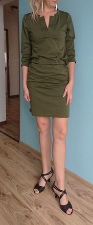 Sukienka zielona, khaki - Numoco rozm. M