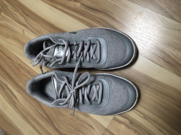 Buty sporotwe Lacoste 39 srebrne szare